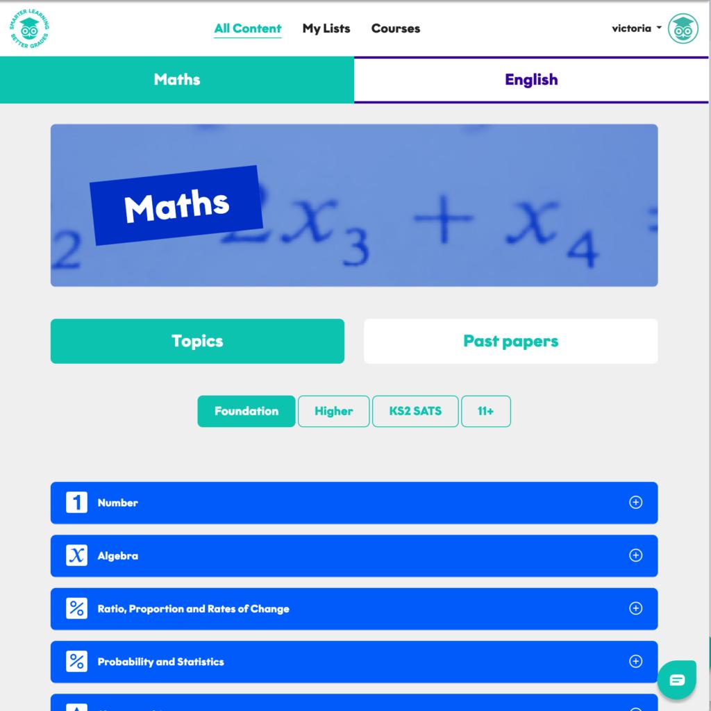 GCSE Foundation Maths Online Topics 1024x1024